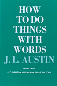 Book Cover from Austin's book, How To Do Things With Words