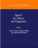 Book cover from Searle book, Speech Act Theory and Pragmatics